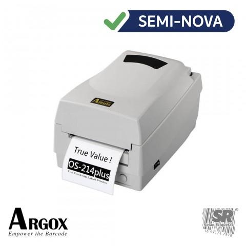 Impressora de Etiquetas Térmica OS-214 - Argox / Semi-Nova